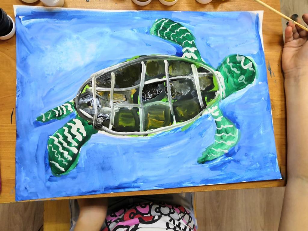 Морская черепаха-любимая героиня детских песен и мультфильмов