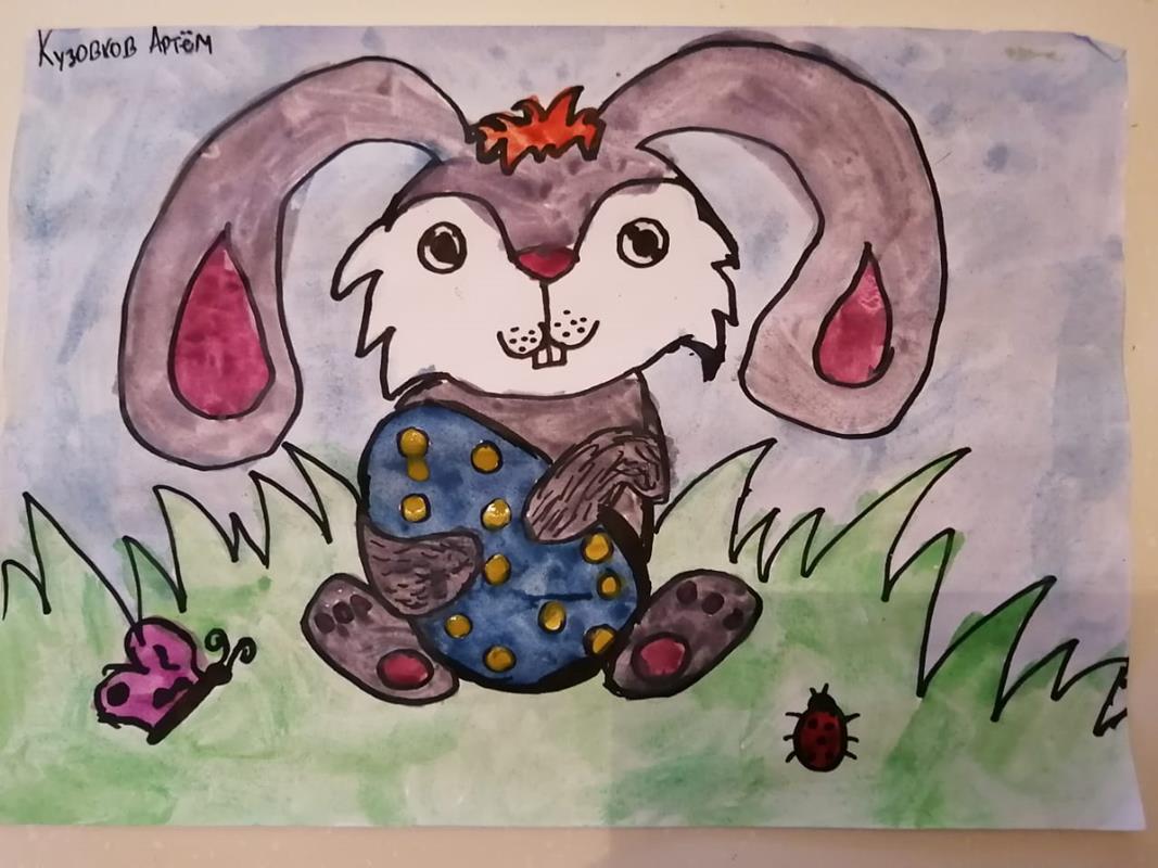 Пасха - светлый праздник и юные художники нарисовали замечательные открытки!